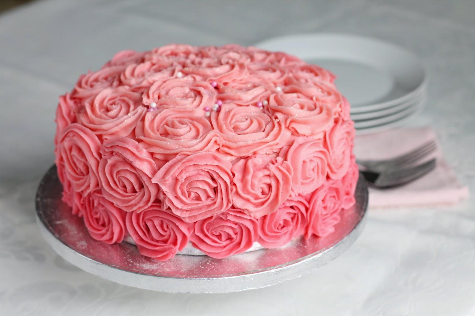 Good Food Shared Rose Swirl Cake Tutorial