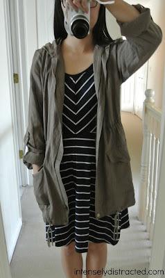 Stitch Fix | Anorak jacket and striped jersey dress