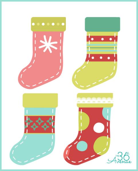 Calcetines navideños imprimibles gratis para chuches3