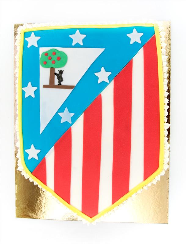 Athletico de madrid cake top fondant
