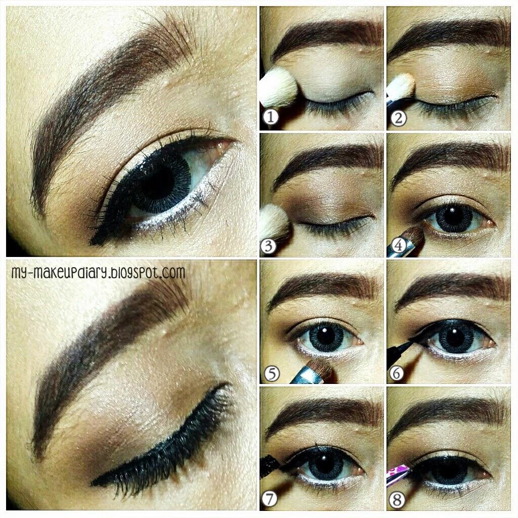 Make Over Trivia Eye Shadow Natural Nude Warna Pigmented Tahan Lama Eyeshadow Setelah Pake Primer Apply Putih Tulang Keseluruh Kelopak Mata Kamu 2 Kemudian Tumpuk