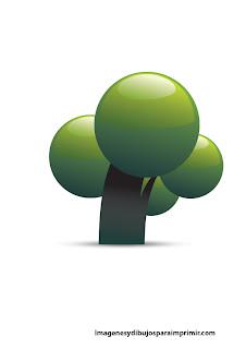 Arbol modernos con hojas verdes