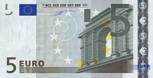 банкнота от 5 евро