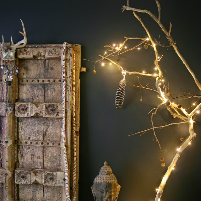 Apartmentf15 holiday decor from a tree branch for Firefly lights urban