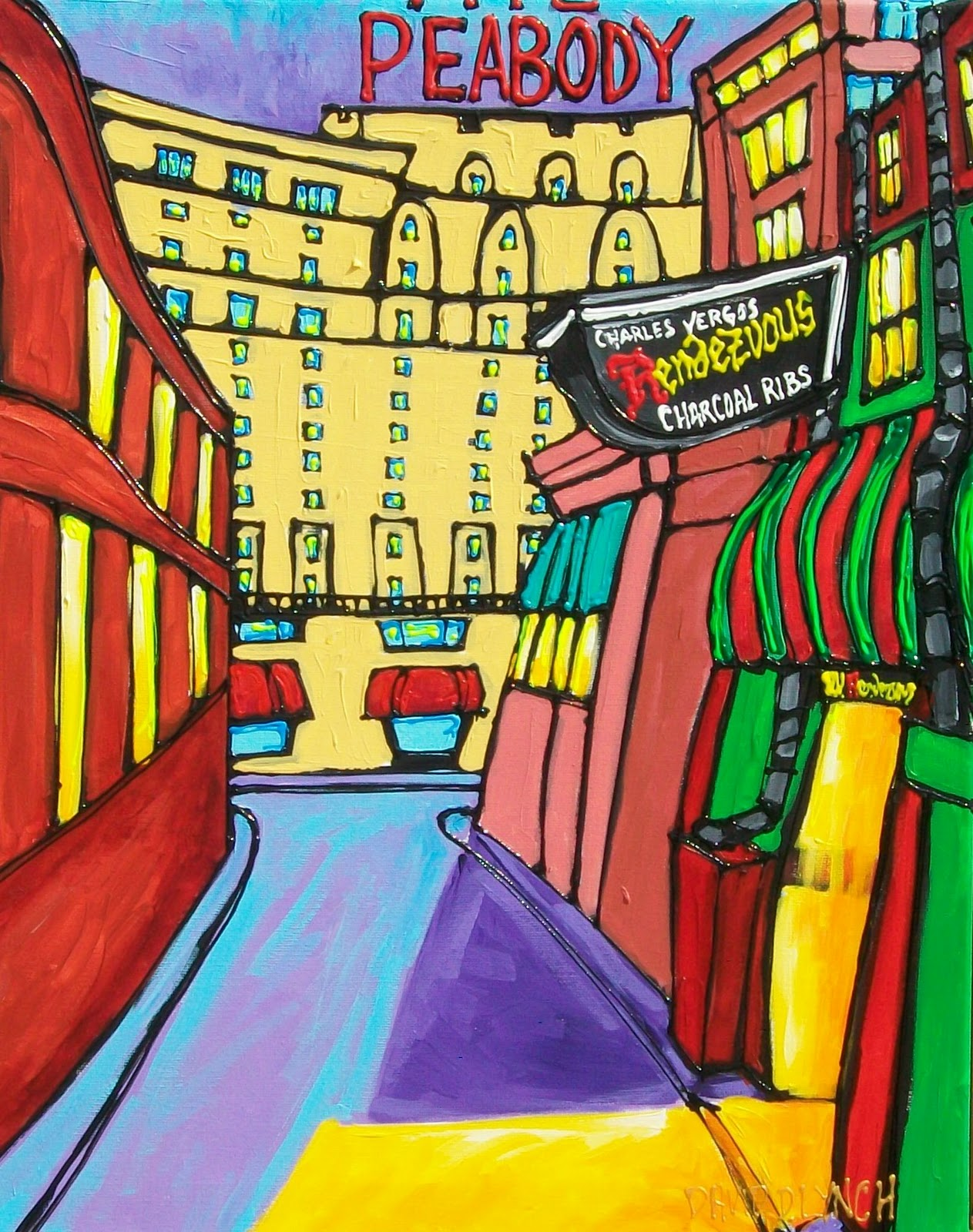 Beale Street Blues Painting