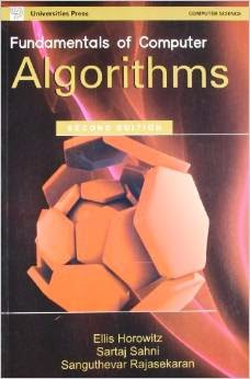Design and Analysis of Algorithm by Sartaj Sahni free ebook download | Chitkara | CSE 5