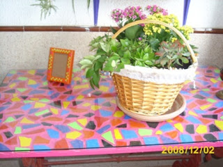 Mosaicos con Azulejos Reciclados