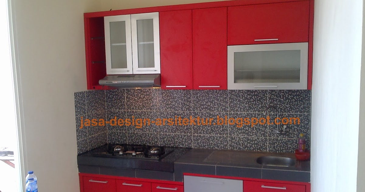 Kontraktor interior surabaya sidoarjo kitchen set warna merah for Kitchen set di surabaya
