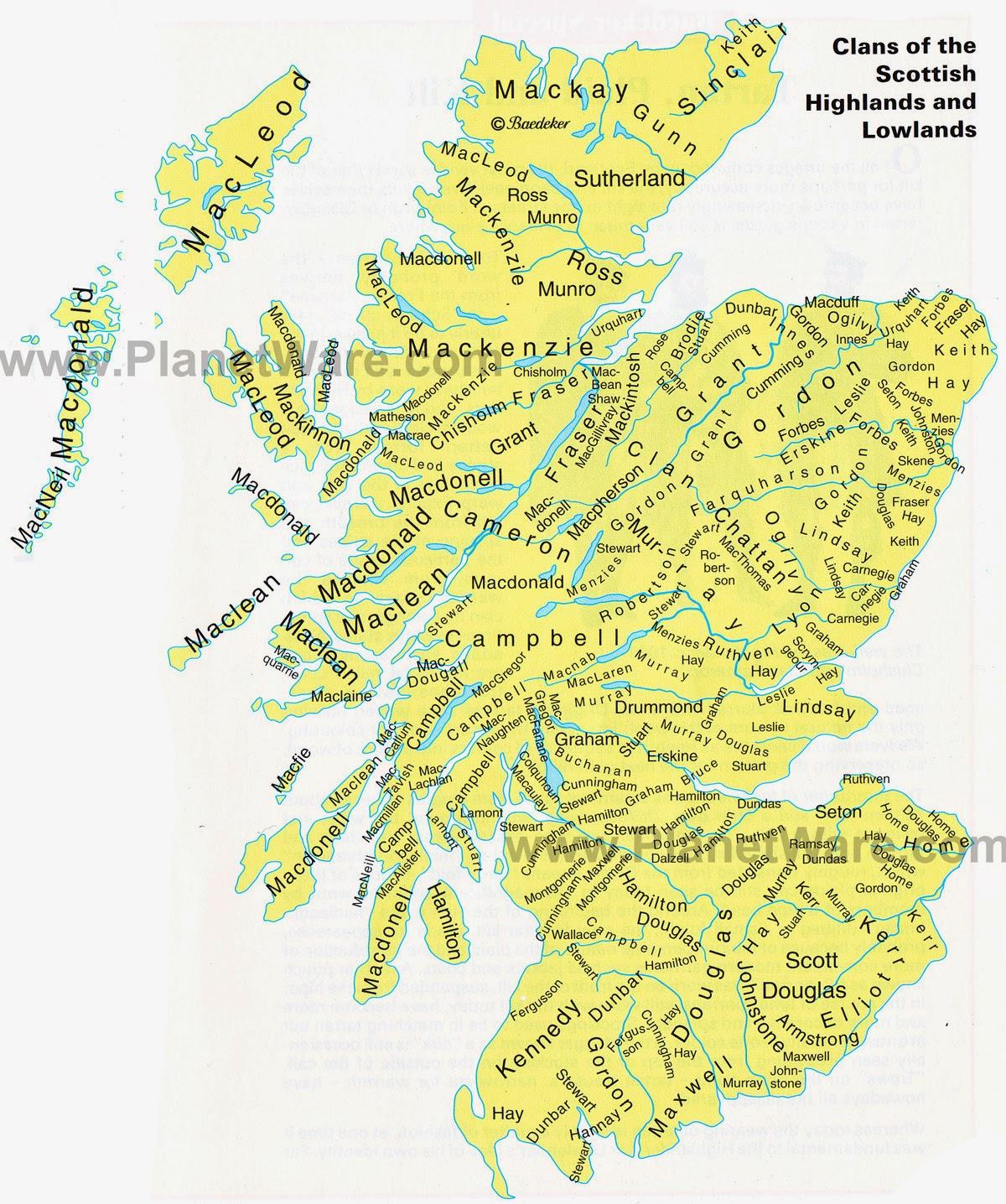 McCains Corner Irish And Scottish Clan Surnames - Interactive us surnames map