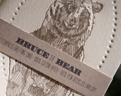 Bruce the Bear Letterpress Card