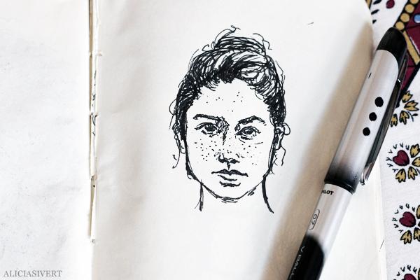 aliciasivert, alicia sivert, alicia sivertsson, teckna, måla, skapa, alster, konst, öva, utmaning, teckningsutmaning, makeri, bläck, ink, rita, sketch, drawing, draw, portrait, porträtt, illustration, illustrera