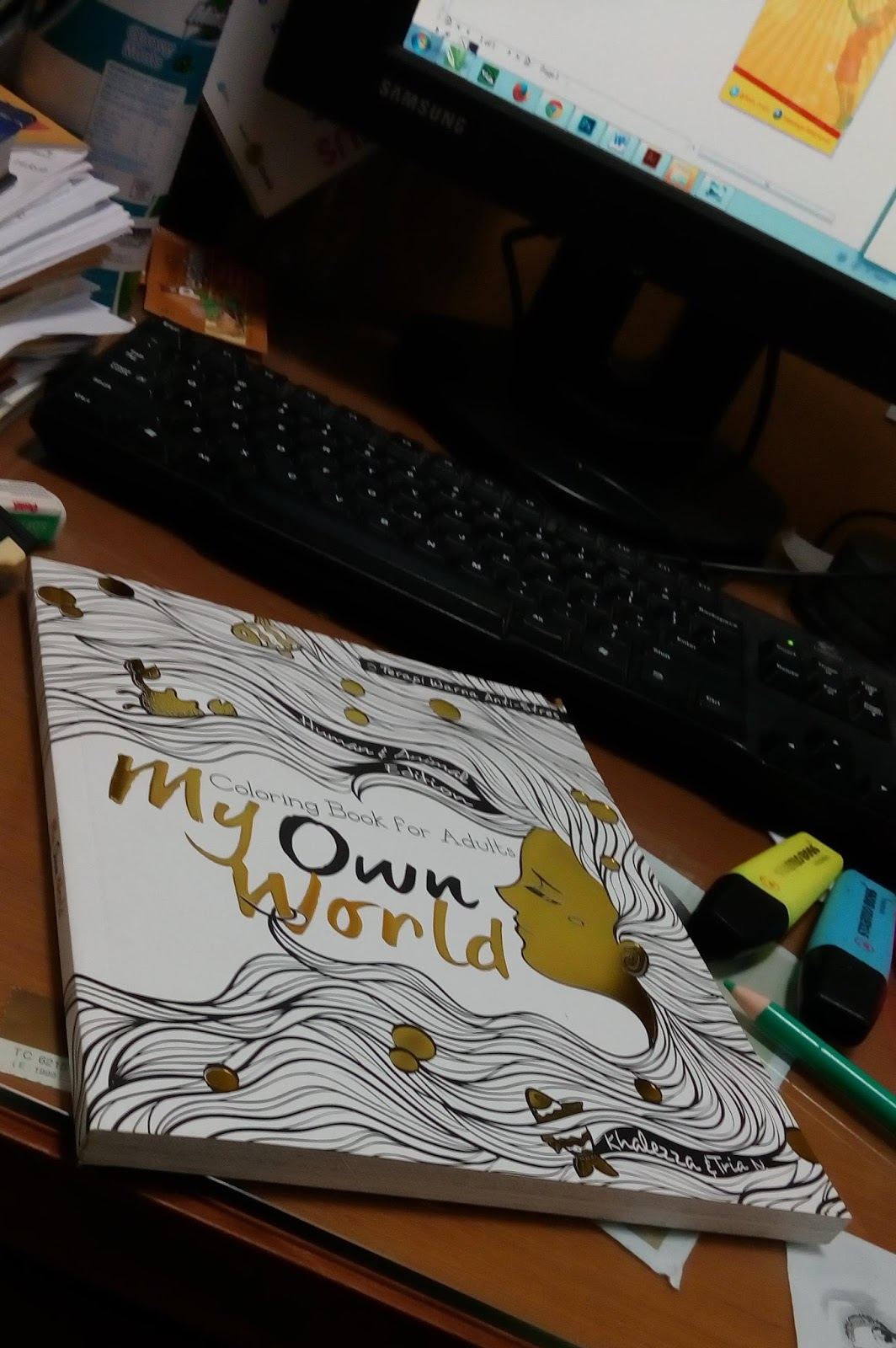 My Own World Coloring Book For Adult