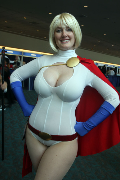 power girl breasts cosplay