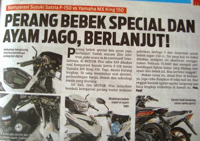 Adu Akselerasi Satria F150 Vs MX King 150 – The Winner Goes to