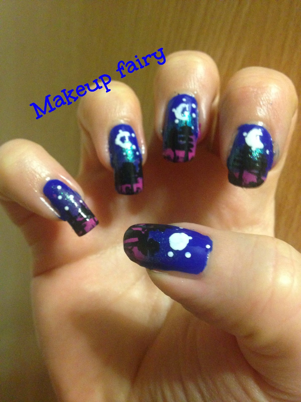 Tinklesmakeup Forest Moon Phases Nail Art