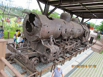 This train had 1203 bullet holes in it, near Bridge of No Return, DMZ, South Korea