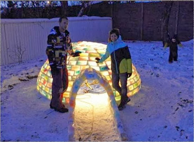 Rainbow igloo - click here