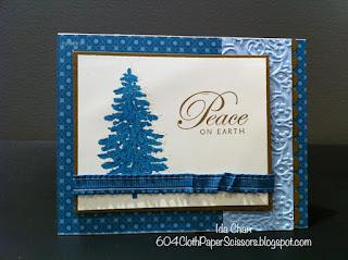 Pacific Blue Evergreen Christmas card by Ida Chan