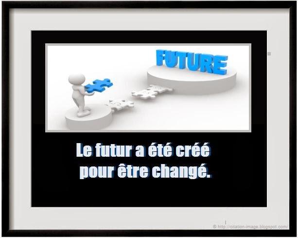 Citation sur le futur en image