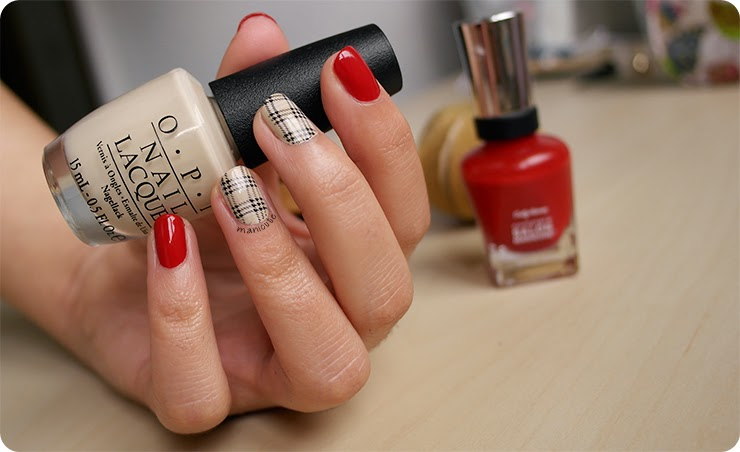burberry nail art
