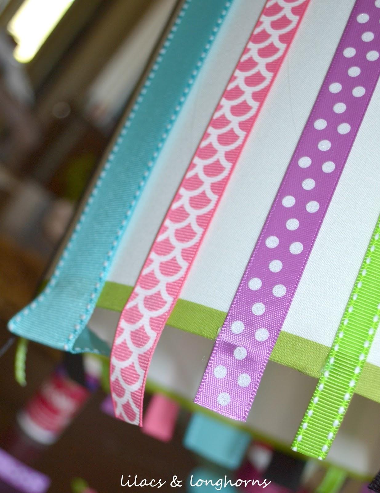 Diy ribbon lamp shade lilacs and longhornslilacs and longhorns aloadofball Choice Image