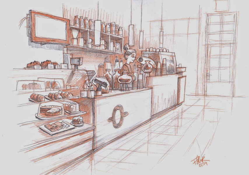 PAAC ART The Blog Coffee Shop Sketch