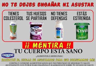 Activia, danacol, Actimel, fraude, publicidad engañosa