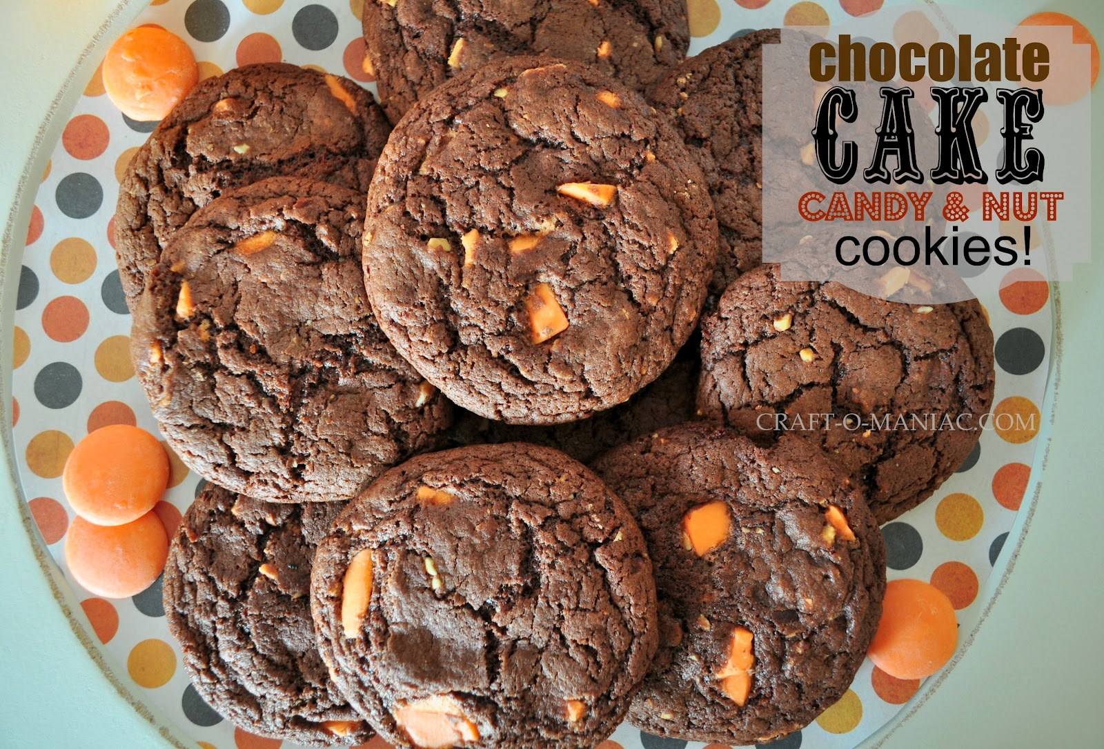 Chocolate CAKE candy & nut Cookies - Craft-O-Maniac