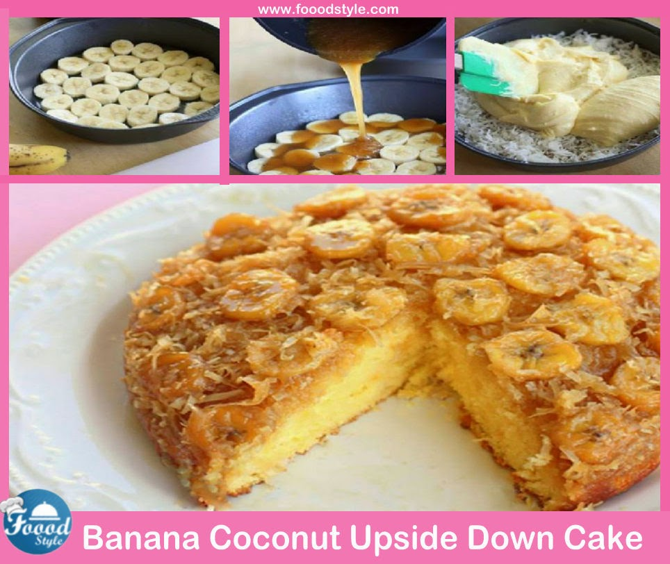 banana coconut upside down banana coconut upside down banana coconut ...