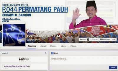 Sebuah Laman Facebook BN Pmtg Pauh Diserang Warga Siber