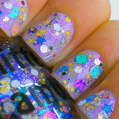 Swirly Bubble Cake Glitter Lambs Nail Polish worn by @She_Drives_A_Tundra