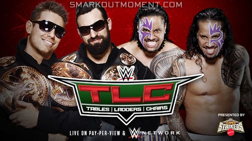 WWE TLC 2014 PPV Tag Team Title match Mizdow Miz Usos