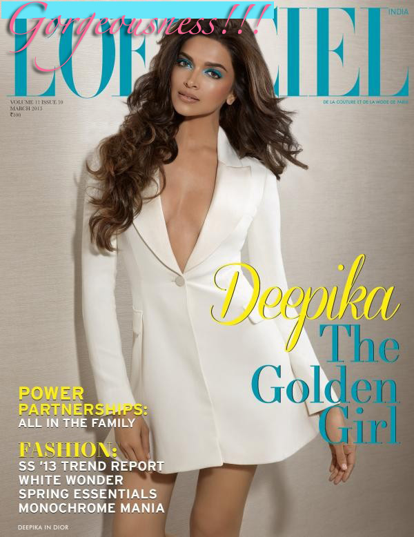 Deepika Padukone On L'Officiel March Cover