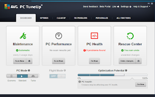 AVG PC Tuneup 2014 will tune up perform three types of problems: the