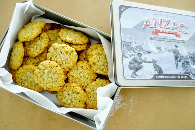 Anzac Biscuits Tin Recipe Food Blog