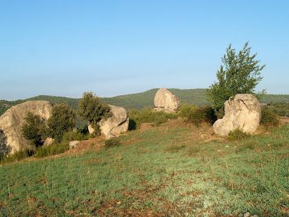 Al costat del Roc de la Mel hi ha altres rocs de dimensions més petites