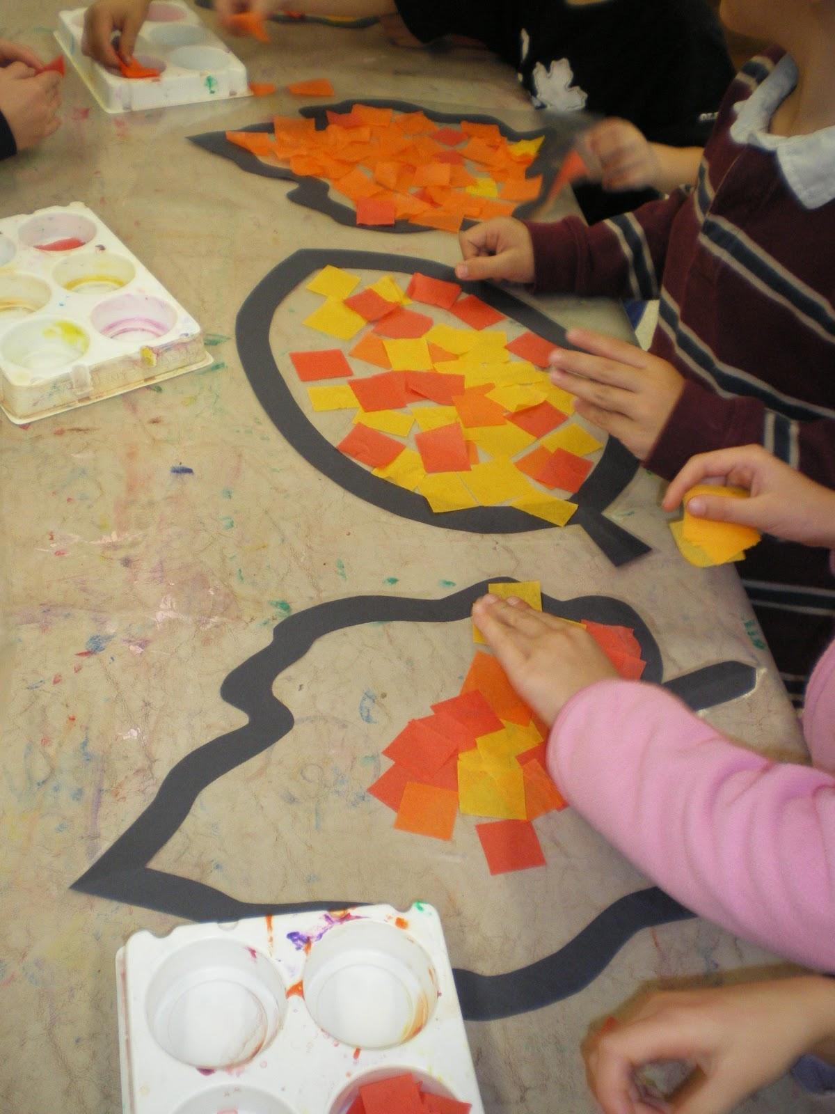 Mrs bremer 39 s class autumn art for Fall crafts for preschoolers pinterest