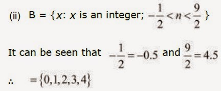 Ncert Solutions of Class XI Maths 1.1