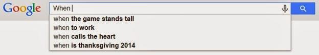When Google AutoSuggest