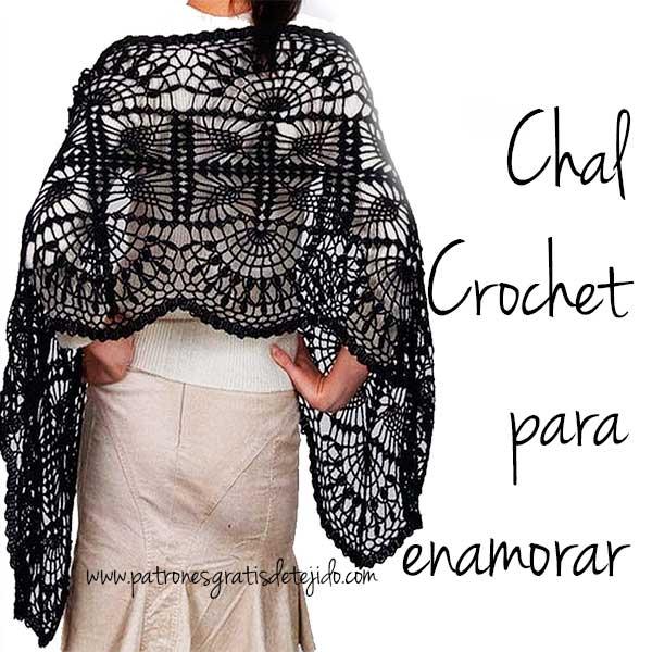 Chal tejido al crochet con patrones en pdf para descargar