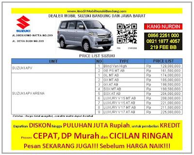 Harga Kredit Suzuki APV Arena Bandung 2016, Harga Kredit Suzuki APV Luxury Bandung 2016