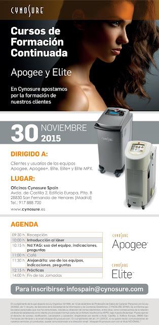 Sara-Abilleira-2015-11-30-Curso-formacion-continuada-laser-Apogee-Elite-Cynosure-Spain