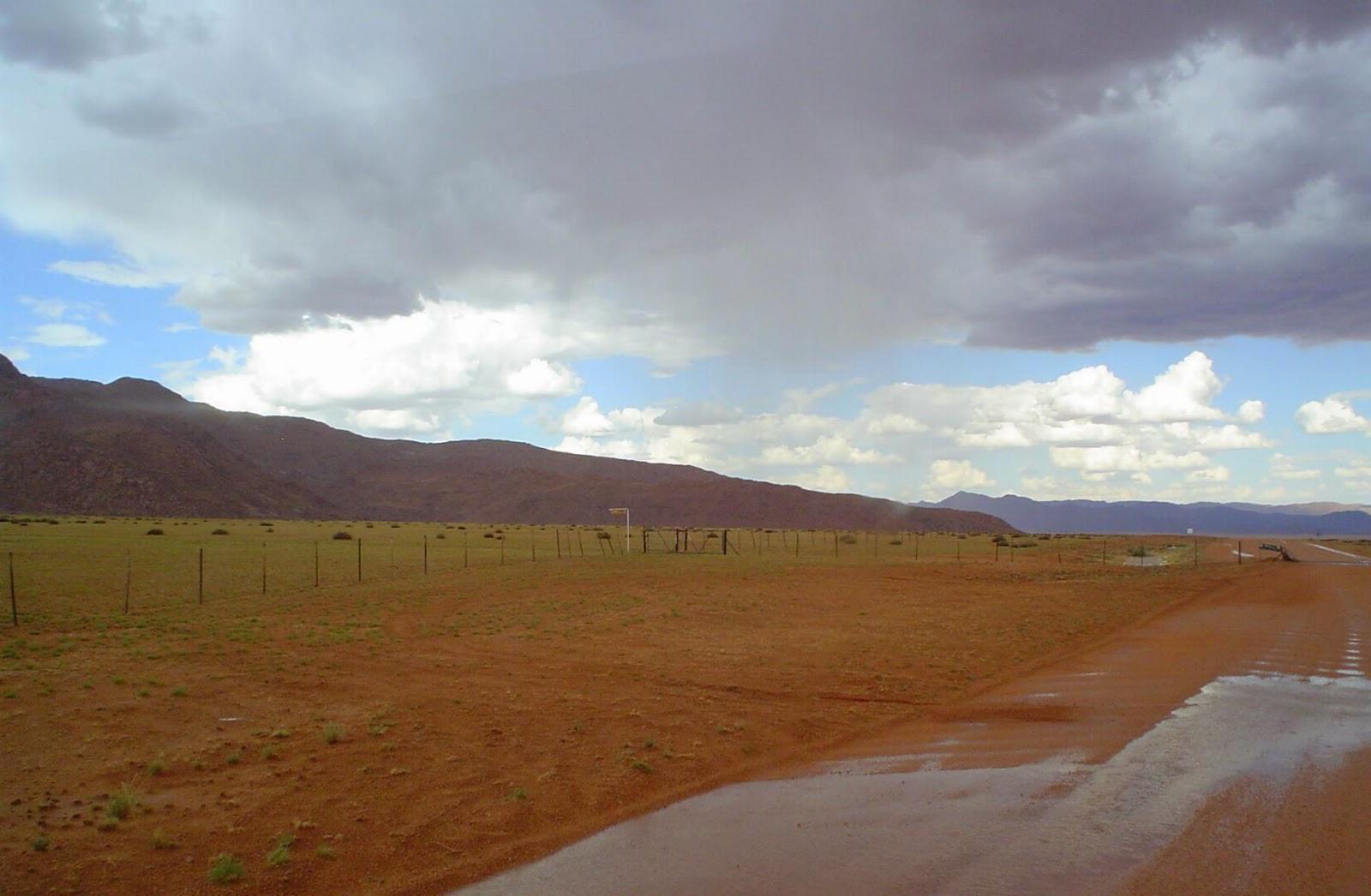 Scenic route 707 in rainy season, Namibia - www.namibweb.com