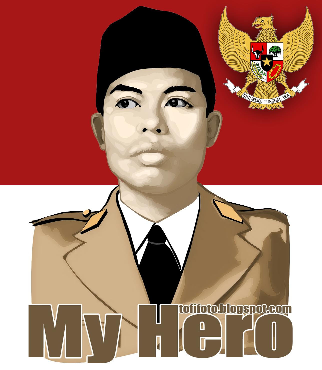 Panglima Besar Jenderal Soedirman (Photoshop CS3 Vector)