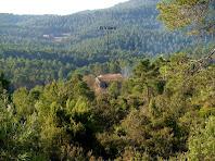 El mas del Vilaró en primer terme