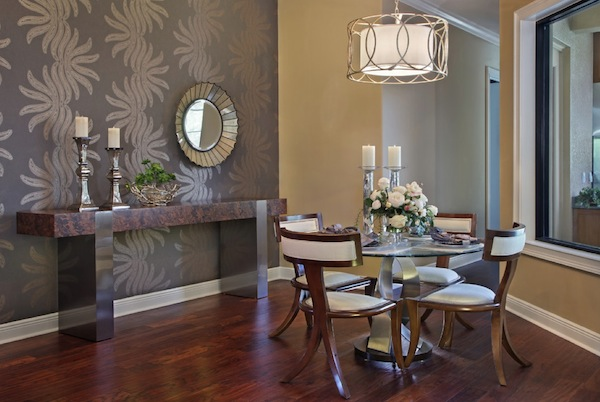 How to choose an accent wall color ideal for dining room for Dining wall design