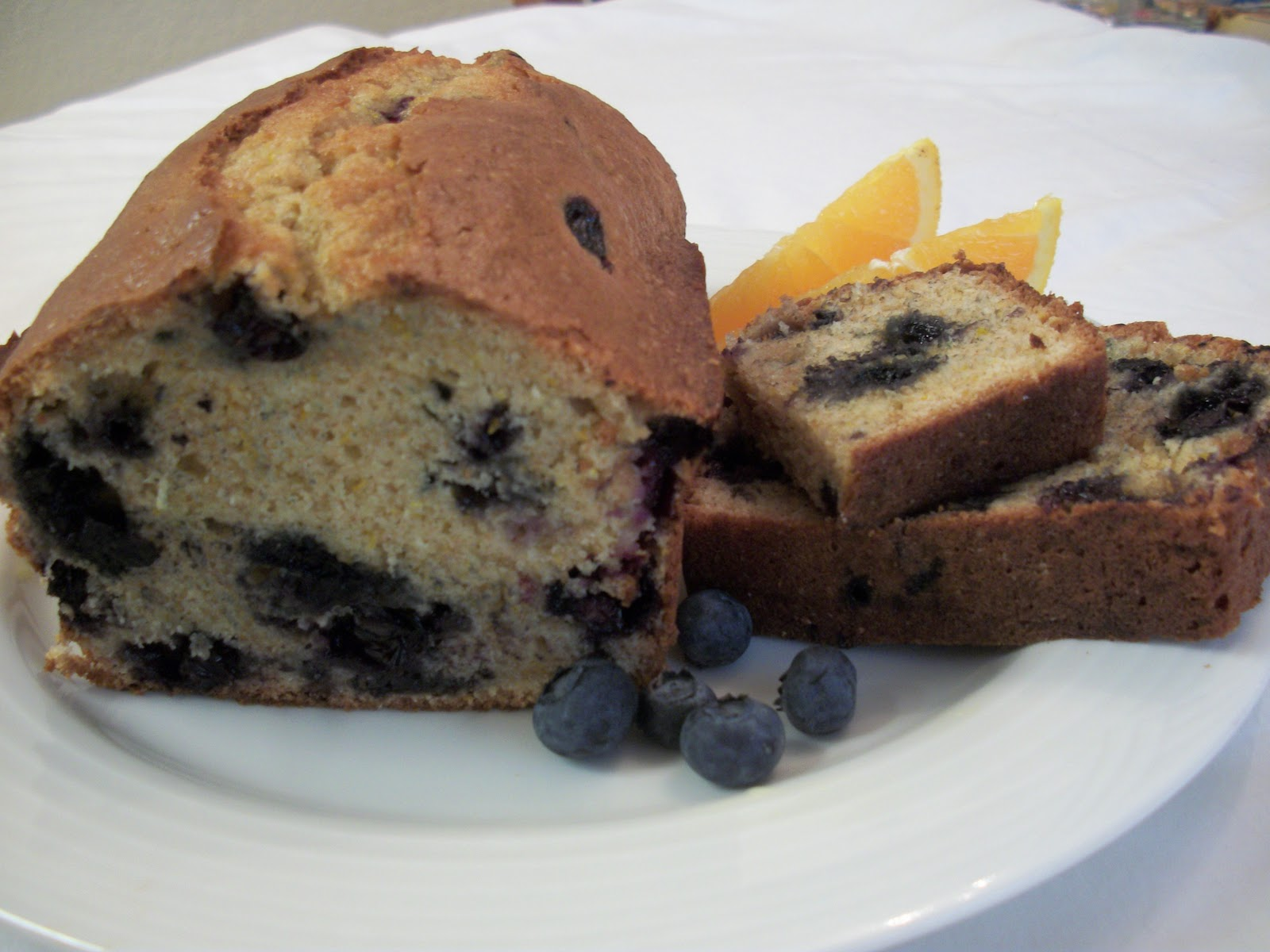 The Big Green Bowl: Blueberry Orange Bread