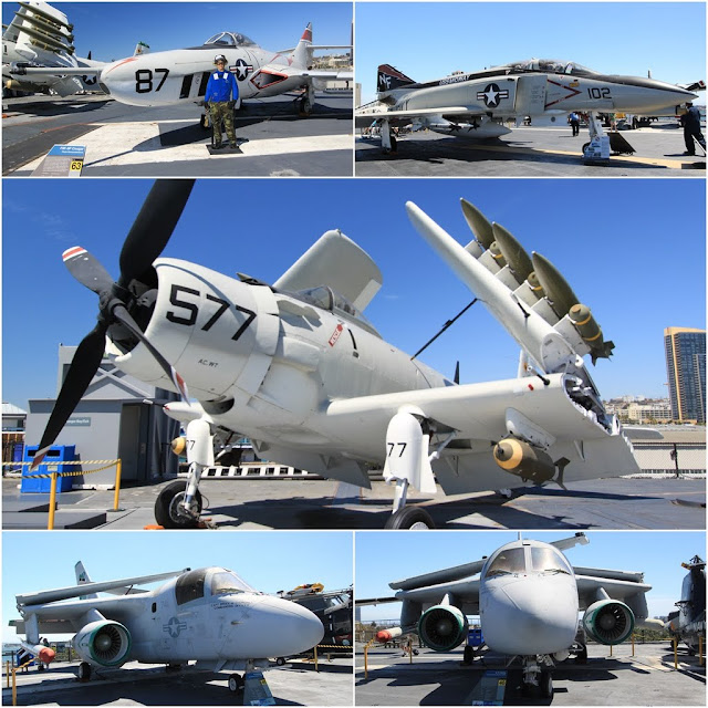 More aircraft carriers can be found on the roof of the flight deck at the USS Midway Museum in San Diego, California, USA