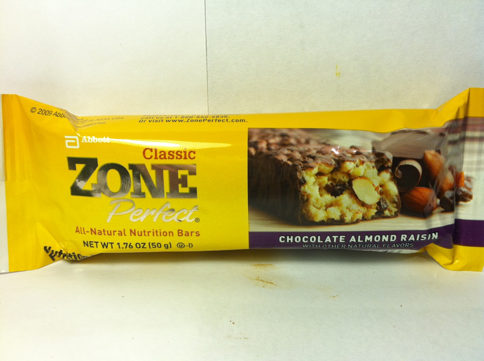 Crazy food dude review zone perfect chocolate almond for Food bar t zone