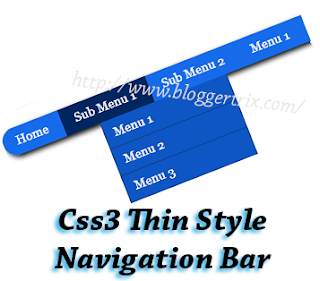 Css3+Thin+Style+Navigation+Bar+for+Blogger